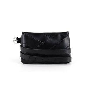 Calvin Klein Pieced Leather Belt Bag (Black)
